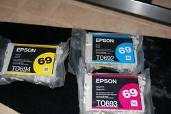 Epson 69 Color Ink Cartridges Cyan-Magenta- Yellow Dura Brite Ultra Ink $24.95