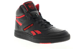 Reebok BB 4600 EH3332 Mens Black Leather High Top Basketball Sneakers Shoes $49.99