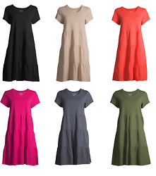 Time and Tru Women's Hacci T-shirt Dress With pocket  $9.89