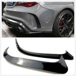 Canard Air Vent Spoiler Trim For Benz W117 CLA250200 CLA45   AMA Gloss Black 2X $26.21