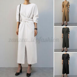 US Womens Long Sleeve Casual Kaftan Maxi Dress Party Holiday Dresses Oversized $17.66