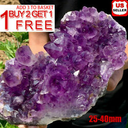 Natural Raw Amethyst Quartz Geode Druzy Crystal Cluster Healing Specimen Decor ^ $6.43