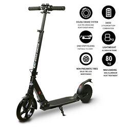 ** Electric Kick Scooter for Teens Folding 8quot;Tire 3 Adjustable Heights Black $149.00