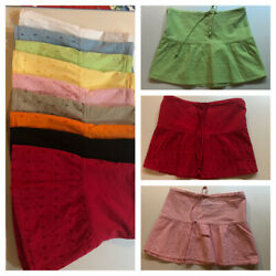 Ladies 100% Cotton Embroidered Mini Skirts 9 Colors $6.00