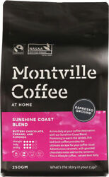 Montville Coffee Sunshine Coast Blend Espresso Grind Coffee Grounds 250g AU $14.70
