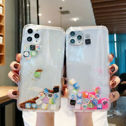 Liquid Glitter App Icons Bling Quicksand Case Cover For iPhone 11 X XR 8 7 $7.99