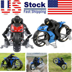 2In1 Motorcycle Mini Quadcopter 2.4G Land Air Dual Playing RC Drone Kid Toy Gift $21.55