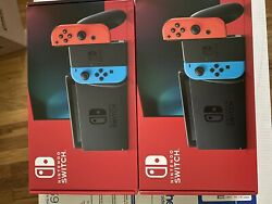 Nintendo Switch w Neon Red and Neon Blue Joy Con NEW $379.00