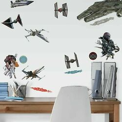 Star Wars Episode IX Ships RoomMates Vinyl Wall Bedroom 27 Removable Stickers $13.99