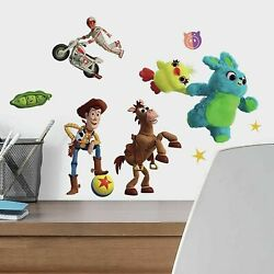 Toy Story 4 RoomMates Vinyl Wall Bedroom 38 Removable Decal Stickers $13.99