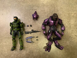 Halo Reach Mcfarlane Spartan Cqc Custom And Elite Minor Figure 2 Pack $59.99