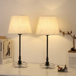 Bedside Lamps with Acrylic Base Small Nightstand Lamps for Bedrooms Table Lamp $39.99