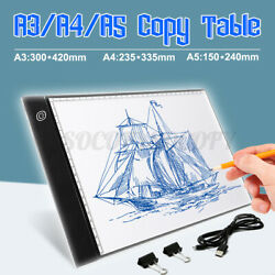 A3 LED Drawing Board Tracing Light Box Tattoo Copy Painting Artist Table Pane $34.99