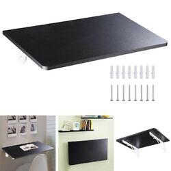 Wall Mounted Floating Folding Computer Desk PC Table Space Saving Home Black $42.80
