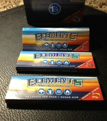 FREE SHIPPING 3 Packs Elements Ultra Thin Rice Rolling Papers 1 1 4quot; 50 Per Pack $4.20