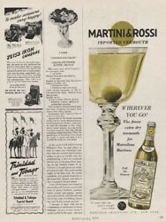 1951 Martini amp; Rossi Dry Vermouth Cocktail For Marvelous Martini vintage Ad $9.89