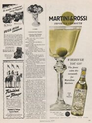 1951 Martini amp; Rossi Dry Vermouth Cocktail For Marvelous Martini vintage Ad $10.79