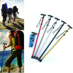 Portable Trekking Poles Carbon Fiber Telescopic Folding Cane Stick Outdoor Sport $14.33