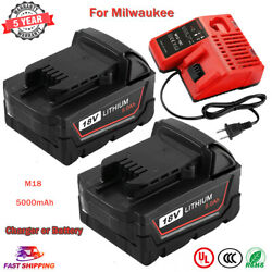 18-Volt For Milwaukee M18 Lithium 5.0Ah Battery or Charger 48-11-1852 48-11-1840 $26.15