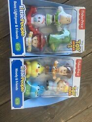 Lot of 2 Fisher Price Little People Toy Story 4 Buzz Lightyear Woody amp; Friends $18.30