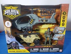 Soldier Force Patrol Vehicle Set Helicopter ATV Chap Mei 3 Action figures new $29.99
