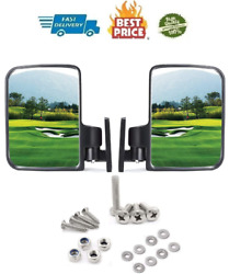 Golf Cart Rear View Side Mirrors Equipment Mirror Fits Club Car EZ-GO Yamaha New $17.98
