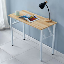 Writing Computer Desk Industrial Style Foldable PC Laptop Table for Home Office $70.90