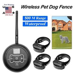 Wireless Electric Dog Fence Pet Containment System Shock Collars For 1 2 3 Dogs $29.58