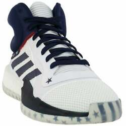 adidas Sm Marquee Mid Usab Mens Basketball Sneakers Shoes Casual White $59.99