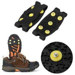 Anti slip Winter Snow Ice Shoe Boot Cleats Crampon Traction Walkers Grip** $4.36