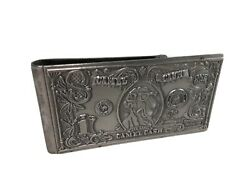Vintage Joe Camel Cigarette Cash Metal Money Clip