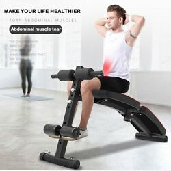 Foldable Decline Sit up Bench Crunch Board Durable Fitness Home Gym Exercise NEW $66.99