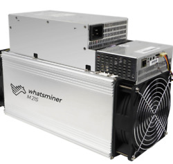 Whatsminer M21s Bitcoin Miner 54 56TH S BTC miner with PSU Not S17T17S9 $1550.00