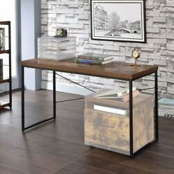 Modern Industrial Table Study Workstation Wood Bob Desk Home Office Furniture US $145.34