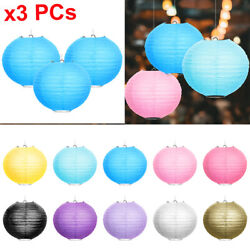 Set of 3 Round Paper Lantern Lamp Decoration Party Wedding Festival 8 inches $5.99