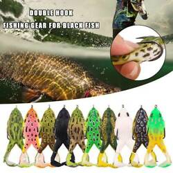 2020 Double Propellers Frogs Soft Bait Soft Silicone Hot Fishing Sale Lures G2N1 C $4.58