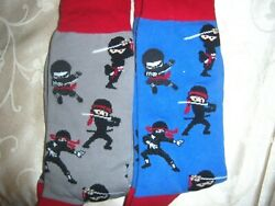 2 PAIR MENS ladies plus novelty socks NINJA $15.99