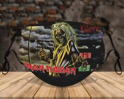 Iron Maiden Face Mask Funny Cute For Gift $15.00