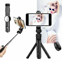 4in1 Bluetooth Mini Selfie Stick Extendable Remote Shutter Tripod 360° Rotation $9.99