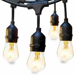48FT Outdoor Commercial String Lights Heavy Duty Weatherproof Vintage Patio