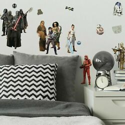 Star Wars Episode IX RoomMates Vinyl Wall Bedroom 28 Removable Decal Stickers $12.99