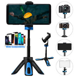 Adjustable Mini Selfie Stick Tripod Desktop Stand Desk Phone Holder Stabilizer $11.97