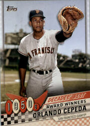 2020 Topps Baseball Decades#x27; Best S1 S2 Insert and Parallel Cards $3.00