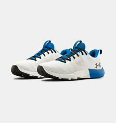 NIB Under Armour 3022616 106 Men Charged Engage Training White Blue Shoes $44.95
