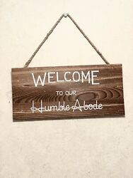 Welcome wooden sign home decor $4.00
