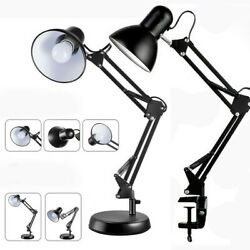 Swing Arm Desk lamp Architect Drafting Table Clamp On LED Light Adjustable Bulb $21.99
