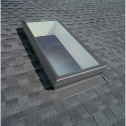 Fixed Skylight Curb Mount w Tempered Low E3 Glass 22 1 2 in. x 46 1 2 in. Velux