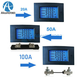 AC 100V 20A 50A Multifunctional Voltage Current Power Monitor Meter Digital $9.35