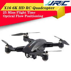 JJRC X16 GPS Foldable RC Drones 6K HD Camera Quadcopter Brushless Motor Drone $115.51