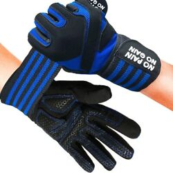 Gym Gloves Full Finger Wrist Wrap Workout Lifting Weight Fitness Exercise Unisex $12.99